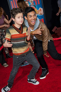 HOLLYWOOD, CA - OCTOBER 29: Actors Davis Cleveland and Roshon Fegan at the Premiere Of Walt Disney Animation Studios' 'Wreck-It Ralph' - Red Carpet at the El Capitan Theatre on Monday, October 29, 2012 in Hollywood, California. (Photo by Tom Sorensen/Moovieboy Pictures)
