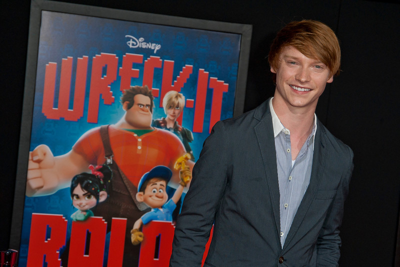 HOLLYWOOD, CA - OCTOBER 29: Actor Calum Worthy at the Premiere Of Walt Disney Animation Studios' 'Wreck-It Ralph' - Red Carpet at the El Capitan Theatre on Monday, October 29, 2012 in Hollywood, California. (Photo by Tom Sorensen/Moovieboy Pictures)