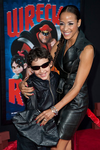 HOLLYWOOD, CA - OCTOBER 29: Actress Dania Ramirez and son at the Premiere Of Walt Disney Animation Studios' 'Wreck-It Ralph' - Red Carpet at the El Capitan Theatre on Monday, October 29, 2012 in Hollywood, California. (Photo by Tom Sorensen/Moovieboy Pictures)