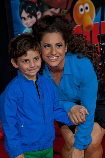 HOLLYWOOD, CA - OCTOBER 29: Actress Marissa Jaret Winokur and son at the Premiere Of Walt Disney Animation Studios' 'Wreck-It Ralph' - Red Carpet at the El Capitan Theatre on Monday, October 29, 2012 in Hollywood, California. (Photo by Tom Sorensen/Moovieboy Pictures)