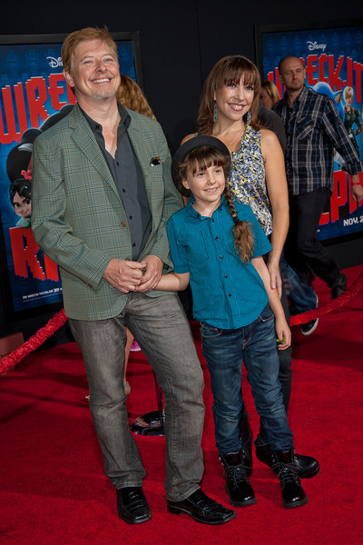 HOLLYWOOD, CA - OCTOBER 29: Actor Dave Foley and family at the Premiere Of Walt Disney Animation Studios' 'Wreck-It Ralph' - Red Carpet at the El Capitan Theatre on Monday, October 29, 2012 in Hollywood, California. (Photo by Tom Sorensen/Moovieboy Pictures)