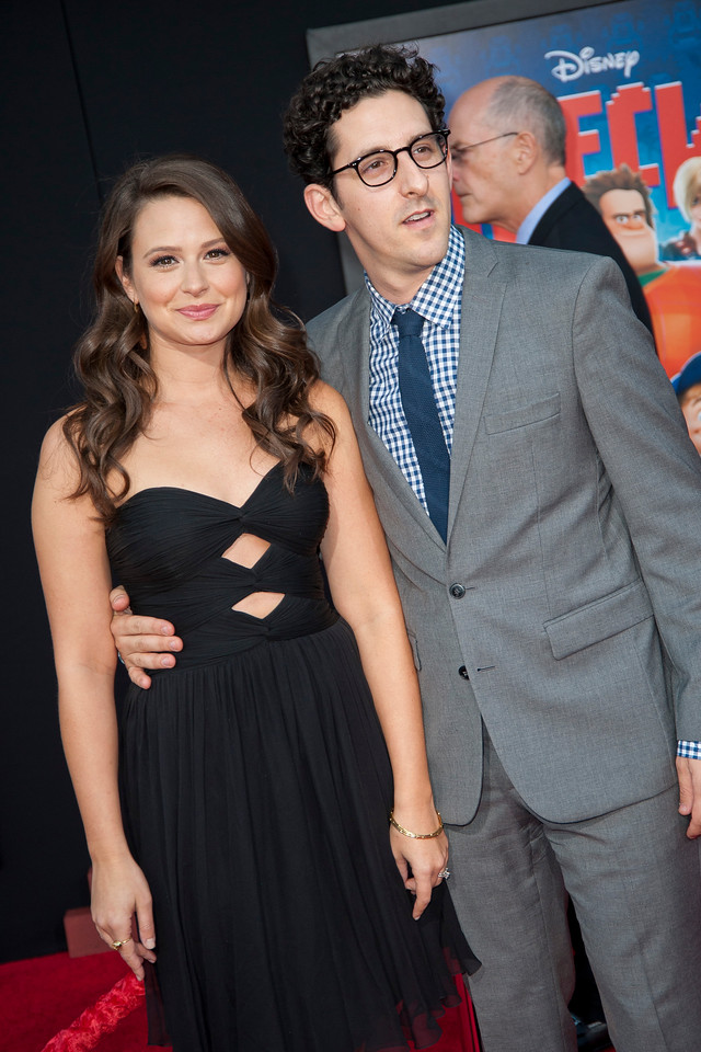 HOLLYWOOD, CA - OCTOBER 29: Actress Katie Lowes and guest at the Premiere Of Walt Disney Animation Studios' 'Wreck-It Ralph' - Red Carpet at the El Capitan Theatre on Monday, October 29, 2012 in Hollywood, California. (Photo by Tom Sorensen/Moovieboy Pictures)