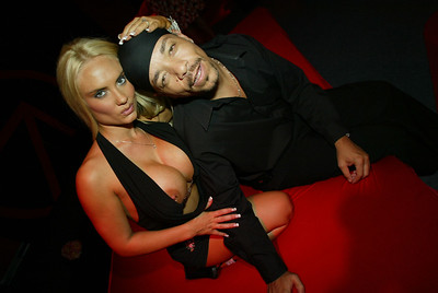 ICE-T & COCO at GQ Magazine 45th anniversary party at GQ lounge at PRESURE in New York on Wednesday September 4th, 2002. Photo: Shahar Azran