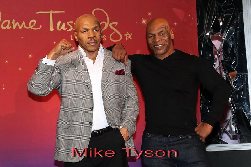Mike Tyson Waxwork Unveiling