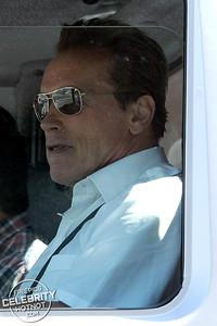 EXC: Arnold Schwarzenegger Doesn't Do Small Driving Custom Mercedes UNIMOG!