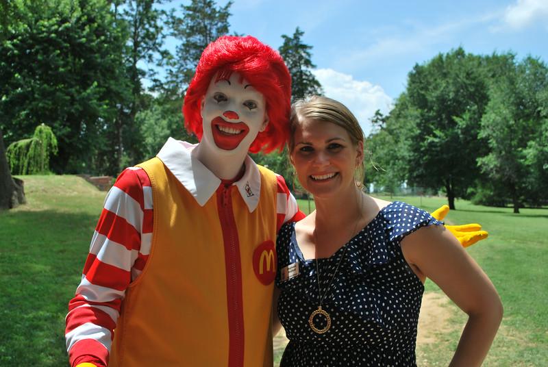 Ronald McDonald and Stephanie Medford