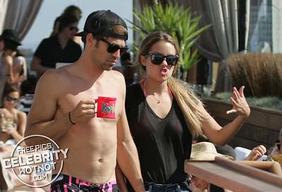 EXC: Lauren Conrad In Bikini Top With Boyfriend Kyle Howard At Pool Party