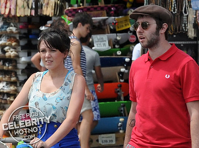 EXCLUSIVE: Inbetweener James Buckley And Wife Clair Meek On Holiday in Los Angeles