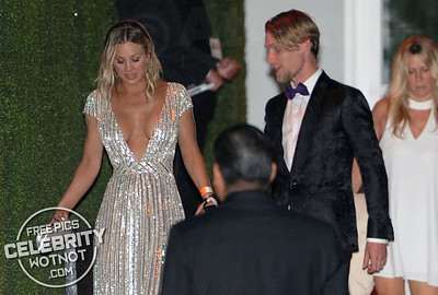 Kaley Cuoco Wears Eye-Popping Tommy Hilfiger Dress With Boyfriend Karl Cook, LA