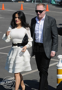Salma Hayek Stylish At The Spirits With Husband Francois-Henri Pinault, CA