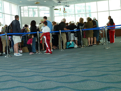 Ugh, long line. Who told these people to show up so early?