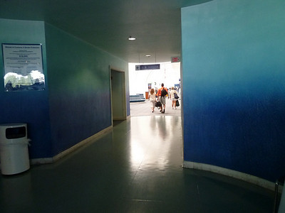 Hallway to check-in area