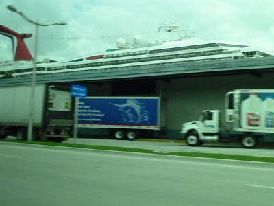 We drove past the Carnival Destiny's terminal on our way to Eclipse