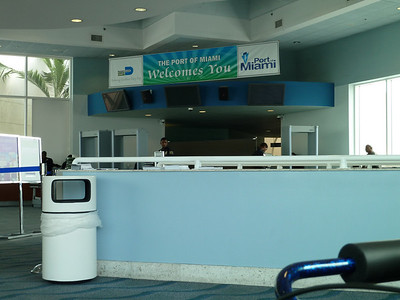Metal detectors and entrance to check-in area
