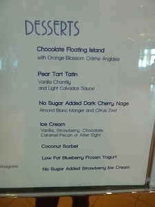 Blu menu, night 2
