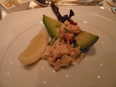 San Francisco crab Louis over avocado