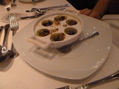 Escargots - always available menu