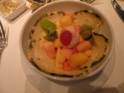 Tropical fruit medley with lychee