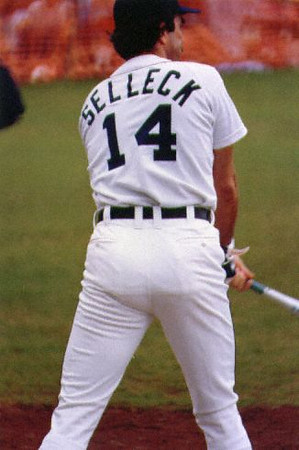 Tom Selleck at a charity game in Hawaii back in 1987.