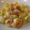 Oriecchiette with shrimp - yum!