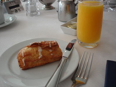 Cheese danish & orange juice