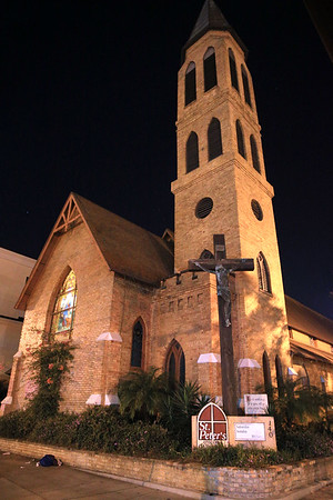 General views of St. Peter's Episcopal Church where the wedding of Mila Kunis' brother Michael Kunis and Alexandra Blacker took place in St. Petersburg, FL