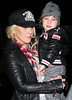 Non-Exclusive<br /> 2012 Jan 2 - Christina Aguilera kisses Max Bratman on the cheek when leaving The Barn restaurant with Matt Rutler in NJ. Photo Credit Jackson Lee