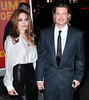 Non-Exclusive<br /> 2012 Jan 9 - Brad Pitt and Angelina Jolie arrive at the Film Critics Awards at Crimson in NYC. Photo Credit Jackson Lee