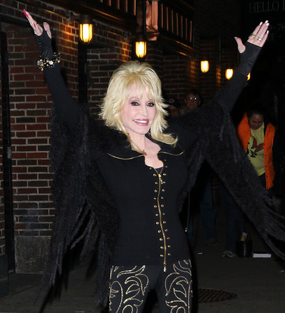 Non-Exclusive<br /> 2012 Jan 11 - Dolly Parton at the 'David Letterman' show in NYC. Photo Credit Jackson Lee