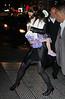 Non-Exclusive<br /> 2012 Jan 13 - Katie Holmes navigates around the treacherous subway grates while holding Suri Cruise in NYC. Photo Credit Jackson Lee