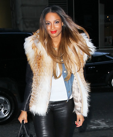 Non-Exclusive<br /> 2012 Jan 16 - Ciara attends a Knicks game at Madison Square Garden in NYC. Photo Credit Jackson Lee