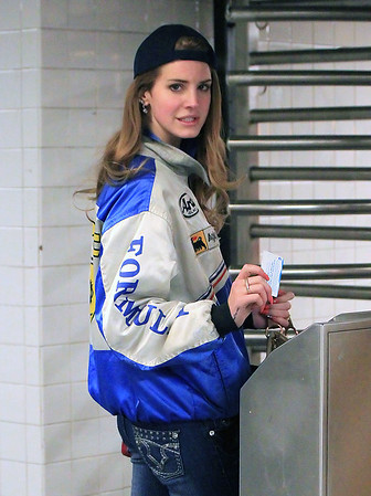 Non-Exclusive<br /> 2012 Feb 3 - Lana Del Rey buys a Metrocard and takes the subway in NYC. Photo Credit Jackson Lee