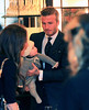Non-Exclusive<br /> 2012 Feb 12 - David Beckham and Harper Beckham dining inside Bathazar in NYC. Photo Credit Jackson Lee