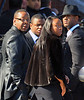 Non-Exclusive<br /> 2012 Feb 18 - Bobby Brown hugs girlfriend Alicia Etheridge and consoles son Landon after getting rejected at the door of New Hope Church at Whitney Houston's funeral in Newark, NJ Photo Credit Jackson Lee