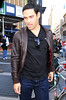 Non-Exclusive<br /> 2012 Feb 19 - Mark Sanchez steps out with mystery girl and pal Mark Sanchez after attending the Knicks game at Madison Square Garden in NYC  Photo Credit Jackson Lee