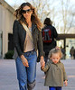 Non-Exclusive<br /> 2012 Feb 28 - Sarah Jessica Parker holds Marion Broderick's hand when coming out of school in NYC. Photo Credit Jackson Lee