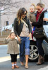 Non-Exclusive<br /> 2012 Feb 28 - Sarah Jessica Parker put sunglasses on Marion and walks with Tabitha to school in NYC. Photo Credit Jackson Lee