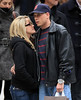 Exclusive<br /> 2012 Mar 2 - Jenelle Evans, star of MTV's Teen Mom 2 and new BF Gary Head share a tender kiss on 5th Avenue after Gary gave her a present bought at Louis Vuitton in NYC.  Photo Credit Jackson Lee