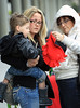 Exclusive<br /> 2012 Mar 2 - First NYC shots of Jenelle Evans with her baby boy Jace at the airport with mom Barbara Evans and new BF Gary Head.  This is the first time Jace has been pictured in NYC.  Jenelle and her mom Barbara can be seen putting a red hat on Jace to protect him from the cold weather.  Photo Credit Jackson Lee