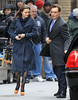 Non-Exclusive<br /> 2012 Mar 5 - Ed Westwick and Leighton Meester on location for 'Gossip Girl' in NYC. Photo Credit Jackson Lee