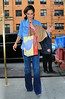Non-Exclusive<br /> 2012 Mar 23 - Katie Holmes comes back home with a Build-a-Bear bag in NYC. Photo Credit Jackson Lee