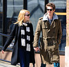 Exclusive<br /> 2012 Mar 26 - Emma Stone and Andrew Garfield take a stroll hand-in-hand on the streets of NYC. Photo Credit Jackson Lee