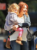 Non-Exclusive<br /> 2012 Apr 3 - Alyson Hannigan and husband Alexis Denisof take daughter Satyana to the park in NYC. The happy family went for lunch then took Satyana to the park and bought some balloons.. Photo Credit Jackson Lee