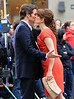 Non-Exclusive<br /> 2012 Apr 9 - Tina Fey kisses James Marsden on the set of '30 Rock' in NYC. Photo Credit Jackson Lee