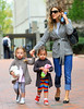 Non-Exclusive<br /> 2012 Apr 10 - Sarah Jessica Parker takes twins Marion and Tabitha to school in NYC. Photo Credit Jackson Lee