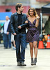 Non-Exclusive<br /> 2012 Apr 20 - David Duchovny and Natalie Zea get close on the set of 'Californication' in NYC. Photo Credit Jackson Lee