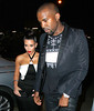 Non-Exclusive<br /> 2012 Apr 24 - Kanye West holds Kim Kardashian's hand as he guides her to a restaurant in downtown NYC. Photo Credit Jackson Lee