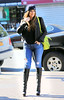 Non-Exclusive<br /> 2012 Apr 27 - Khloe Kardashian is all smiles while out and about in Jamaica, NY. Photo Credit Jackson Lee
