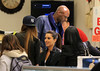 "Non-Exclusive<br /> 2012 Apr 27 - Lamar Odom gets filled for a gold ""grille"" for his teeth and shops for sneakers at a flea market near his childhood home with Kim Kardashian and Khloe Kardashian in Jamaica, NY. Photo Credit Jackson Lee"