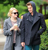 Non-Exclusive<br /> 2012 May 3 - Emma Stone and Andrew Garfield giggles at the paps while out and about in NYC. Photo Credit Jackson Lee